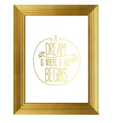 A Dream Love Print Gold Print Office Decor  by TheDigitalStudio, $8.00