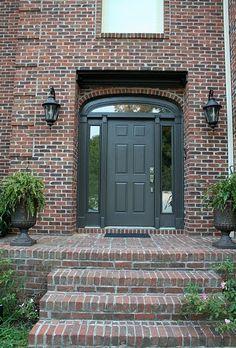 Dark Red Brick Homes | Red brick with dark gray trim | Outside ...