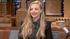 Amanda Seyfried Really Wanted To Be A Meteorologist Late Night Show, Tonight Show, Amanda Seyfried, Jimmy Fallon, Celebs, Celebrities, Emma Watson, Cut And Color, Color Inspiration
