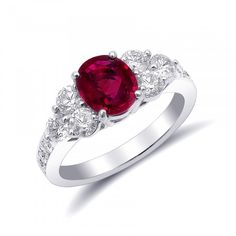 Natural Burmese red Ruby at carats set in a Platinum Ring with Diamonds Girls Jewelry Box, Women Jewelry, Ruby Ring Designs, Platinum Ring, Platinum Metal, Quartz Ring, Unique Rings, Stone Rings, White Gold Diamonds