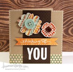 Make a Card Monday - cute use of embossing on the flowers