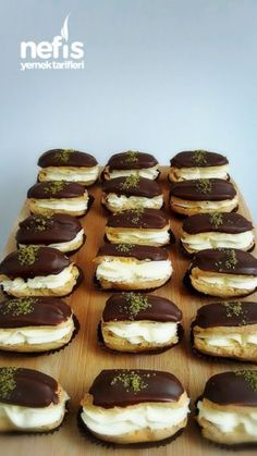 Appendices Cake Recipe – Famous Last Words Yummy Recipes, Pie Recipes, Dessert Recipes, Yummy Food, Donut Recipes, Chocolates, Eclairs, Eclair Cake Recipes, Flaky Pastry