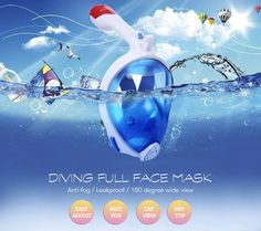 Anti Fog Full Face Snorkeling Mask Diving Snorkel 2 In 1 For Gopro 180 Degree Dry Easy Free Breath Dive Gear Tube training mask