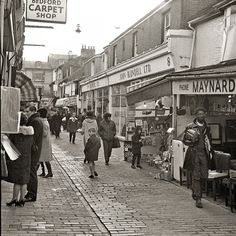 Archive photograph of Kensington Gardens in the North Laine, Brighton, UK.