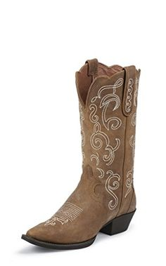 HOT!  L2703 Justin Womens Puma Cowhide Western Boots  #Shoes