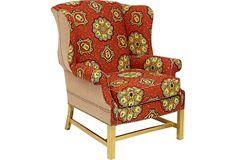 Batik Wingback Chair