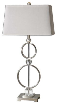 METAL CIRCLES TABLE LAMP :: SHADED TABLE LAMPS :: Ceiling lights Toronto, Bath and vanity lighting, Chandelier lighting, Outdoor lighting and kitchen lights :: Union