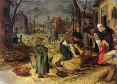 Sebastian Vrancx (Flemish, 1573 - 1647) Allégories du printemps et de l'hiver 1
