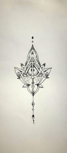 Mandala Deathly Hallows, tattoo idea