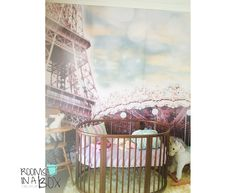 Carousel and Eiffel tower, paris theme for a nursery X South Africa hello@roomsinabox.co.za