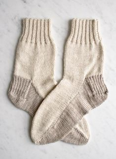 Seamed Socks pattern by Purl Soho Knitted Socks Free Pattern, Crochet Socks, Knitted Slippers, Knit Or Crochet, Knit Socks, Crochet Granny, Knitted Hats, Knitted Christmas Stocking Patterns, Knitted Christmas Stockings