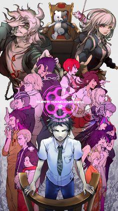 For fans of the murder-mystery visual novel series Danganronpa. Monokuma Danganronpa, Nagito Komaeda, Danganronpa Characters, Super Danganronpa, Danganronpa Funny, Gundam, Nanami, Hinata, Fan Art