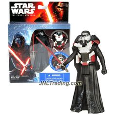 Hasbro Year 2015 Star Wars The Force Awakens Armor Up Series 4-1/2 Inch Tall Action Figure - KYLO REN (B3888) with Red Lightsaber and Removable Armor