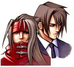 Vincent Valentine and Turk Vincent Valentine. Official drawings. Final Fantasy VII.