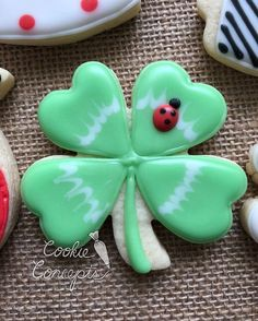 Oh goodness, I am in love with this cookie we made in private group class last night with some lovely women! St Patrick's Day Cookies, Iced Cookies, Cut Out Cookies, Cute Cookies, Royal Icing Cookies, Cupcake Cookies, Sugar Cookies, Cupcakes, Cookie Designs