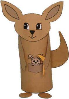 Kangourou en rouleau wc