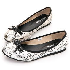 Sanrio Hello Kitty Lady\'s Comfort Ballet Slip on Flat Shoes Gold Silver 910697 | eBay