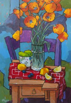 'Tulips' by Angus Wilson ~ more work on my board 'Angus Wilson ~ art of flowers' Art Floral, Art And Illustration, Arte Van Gogh, Wilson Art, Guache, Still Life Art, Paintings I Love, Art For Art Sake, Matisse