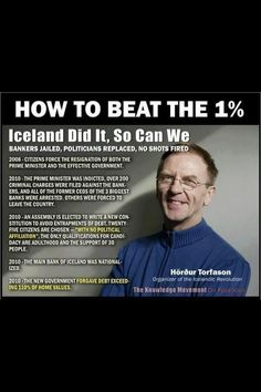 Twitter / billyjYES: This is how a country with integrity treats corrupt bankers and politicians ,,well done Iceland #Indyref #VoteYes #FreeScotland #EndLondonRule