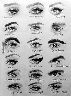 - - More memes, funny videos and pics on Eyebrows Sketch, Lips Sketch, Eye Sketch, How To Draw Eyebrows, Draw Eyes, Art Drawings Sketches, Cute Drawings, Pencil Drawings, Eyes Artwork