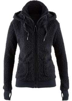 cuddly teddy fleece hoodie with thumb holes <3