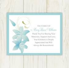 Sympathy Thank You Card With A Floral Background Personalized - Sympathy card template