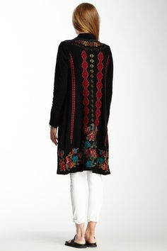biya-embroidered knit jacket sale $140 sold out---gorgeous!