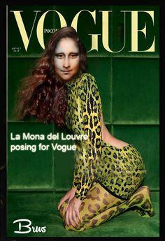 Brus© Mona Lisa, Vogue Russia, Famous Women, Celebrities, Walls, Beautiful, Paper, Graffiti, Art