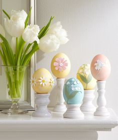Scrapbooking flowers Easter eggs -15 Creative and Unique Decorating Ideas for Easter Eggs, Decorating with eggs for Easter