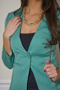 My next purchase will be this! Green Blazer  www.TheHappyWardobe.com