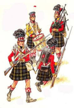 92nd- Grenadier & Highlander - 1815
