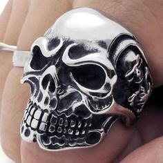 http://cheune.com/store KONOV Jewelry Vintage Gothic Skull Biker Stainless Steel Mens Ring, Silver (Available in Size 8, 9, 10, 11, 12, 13, 14, 15)