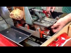 how to use a slab saw, Bell Lapidary Club - YouTube