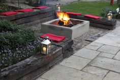 Fire pit & seating.  jamesbalston - Journal