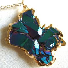 Titanium Druzy Necklace now featured on Fab.