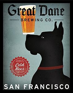 'Great Dane Brewing Company' by Ryan Fowler Framed Vintage Advertisement