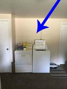 Homeowner Wants To Hide Her Washer And Dryer, So Look What She Did For Just  $5!