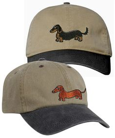 Hey, I found this really awesome Etsy listing at https://www.etsy.com/listing/101204729/embroidered-dachshund-ball-caps-smooth