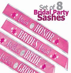 bridal party sashes