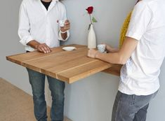Sobuy 174 Wall Mounted Drop Leaf Table Folding Wood Table