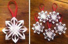 How to Make a Star Christmas Tree Ornament - Step by Step Ho.- How to Make a Star Christmas Tree Ornament – Step by Step Homemade Paper Crafts How to Make a Star Christmas Tree Ornament – Step by Step Homemade Paper Crafts - Homemade Christmas Decorations, Christmas Paper Crafts, Noel Christmas, Christmas Projects, Holiday Crafts, Christmas Stuff, Christmas Origami, Simple Christmas, Paper Ornaments