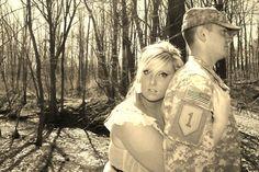 military couple photo idea