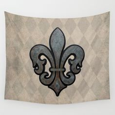 Vintage Style Fleur de Lis Wall Tapestry by Fischer Fine Arts | Society6