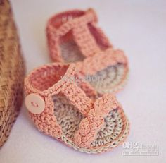 Free Crochet Patterns For Baby Shoes And Sandals - f Wall Decal