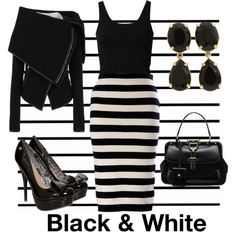 """""""Black & White"""" by opalandviolet on Polyvore"""
