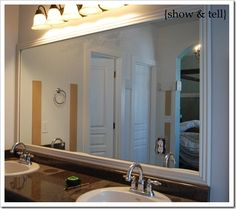 Great Step By For Putting A Frame Around Plain Wall Mirror