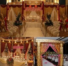 #MAHARANI #WEDDING #GOLDEN #MANDAP #SET #DSTEXPORTS