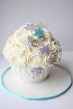 Frozen Themed Birthday Giant Cupcake- GoodieBox Bakeshop