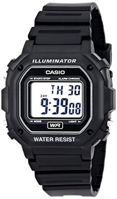 Casio Men's F108WH Illuminator Collection Black Resin Strap Digital Watch: Casio: Watches
