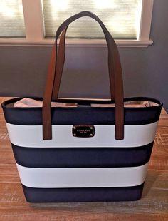 Nuevo con etiquetas MICHAEL KORS Jet Set Pequeño A Rayas en Azul marino/blanco viaje bolso de $228 | Ropa, calzado y accesorios, Carteras y bolsos de mujer, Carteras y bolsos de mano | eBay!